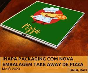 INAPA PACKAGING COM NOVA EMBALAGEM CERTIFICADA DE TAKE AWAY PARA PIZZA