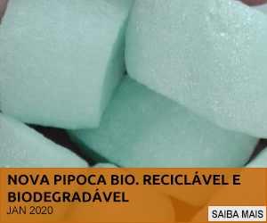 NOVA PIPOCA BIO, 100% RECICLADA E BIODEGRADÁVEL.